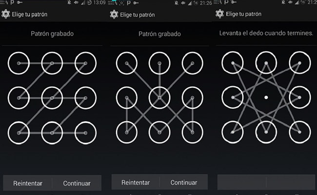 desbloquear un móvil con patrón